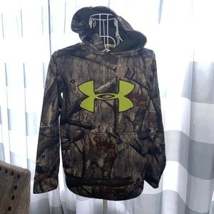 UNDER ARMOUR MOSSY OAK Hoodie (Boys) YOUTH M